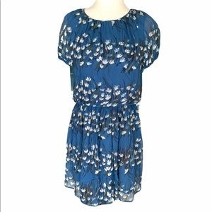 Rare Red Valentino Blue Snowdrop Floral Mini Dress - S